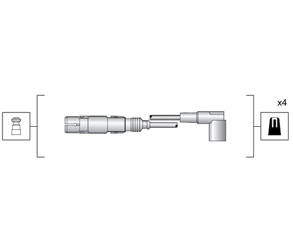 Zündleitungssatz Câble d/'allumage SEAT ALHAMBRA 2.0i ALTEA 1.6 EXEO 1.6 1.8